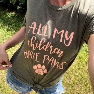 Tops - || All my Children Have Paws Tee ||